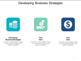 Developing Business Strategies Ppt Powerpoint Presentation Styles Good Cpb