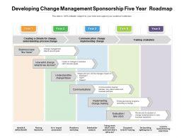 Developing Change Management Sponsorship Five Year Roadmap
