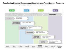Developing Change Management Sponsorship Four Quarter Roadmap
