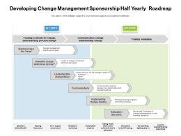 Developing Change Management Sponsorship Half Yearly Roadmap