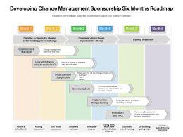 Developing Change Management Sponsorship Six Months Roadmap