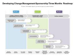 Developing Change Management Sponsorship Three Months Roadmap