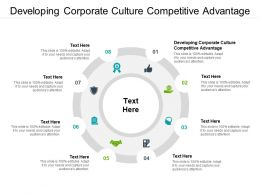 Developing Corporate Culture Competitive Advantage Ppt Powerpoint Presentation Infographics Cpb