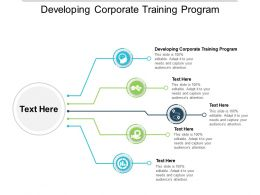 Developing Corporate Training Program Ppt Powerpoint Presentation Layouts Smartart Cpb