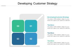 Developing Customer Strategy Ppt Powerpoint Presentation Icon Cpb