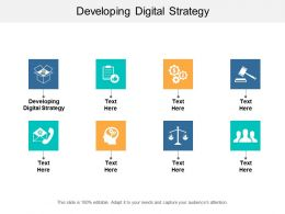 Developing Digital Strategy Ppt Powerpoint Presentation Styles Background Image Cpb