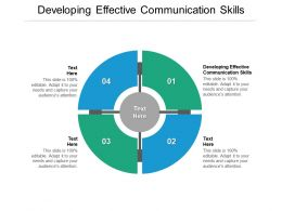 Developing Effective Communication Skills Ppt Powerpoint Presentation Infographics Show Cpb