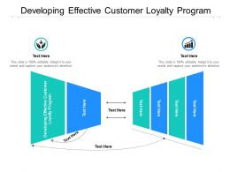 Developing Effective Customer Loyalty Program Ppt Powerpoint Presentation Infographic Template Designs Cpb