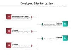 Developing Effective Leaders Ppt Powerpoint Presentation Show Files Cpb