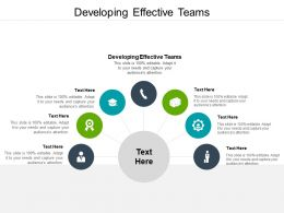 Developing Effective Teams Ppt Powerpoint Presentation Infographics Good Cpb