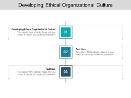 Developing Ethical Organizational Culture Ppt Powerpoint Presentation Model Example Cpb