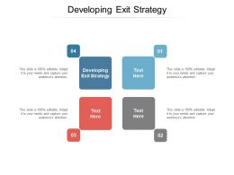 Developing Exit Strategy Ppt Powerpoint Presentation Visual Aids Files Cpb