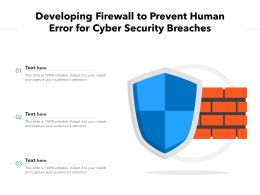Developing Firewall To Prevent Human Error For Cyber Security Breaches