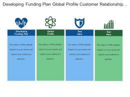 Developing Funding Plan Global Profile Customer Relationship Manager