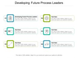 Developing Future Process Leaders Ppt Powerpoint Presentation Portfolio Diagrams Cpb