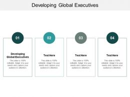Developing Global Executives Ppt Powerpoint Presentation Model Maker Cpb
