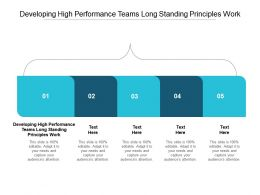 Developing High Performance Teams Long Standing Principles Work Ppt Professional Cpb