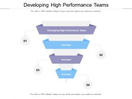Developing High Performance Teams Ppt Powerpoint Presentation Professional Aids Cpb