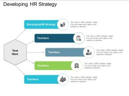Developing HR Strategy Ppt Powerpoint Presentation Professional Designs Download Cpb