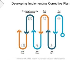 Developing Implementing Corrective Plan Ppt Powerpoint Presentation Template Cpb