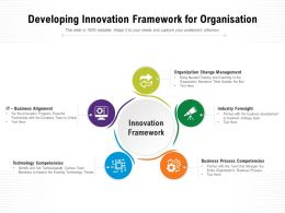 Developing Innovation Framework For Organisation