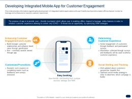 Developing Integrated Mobile App For Customer Engagement Ppt Graphics Pictures