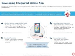 Developing Integrated Mobile App Social Alerting Ppt Presentation Styles Slide