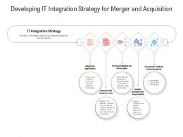 Developing IT Integration Strategy For Merger And Acquisition