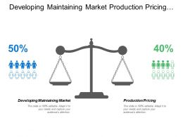 Developing Maintaining Market Production Pricing Budgeting Timing Funds