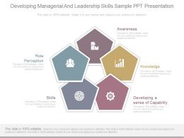Developing Managerial And Leadership Skills Sample Ppt Presentation