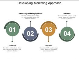 Developing Marketing Approach Ppt Powerpoint Presentation Portfolio Infographic Template Cpb