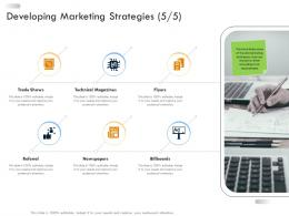 Developing Marketing Strategies Business Strategic Planning Ppt Icons