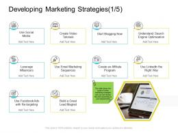 Developing Marketing Strategies Influencers Company Management Ppt Designs