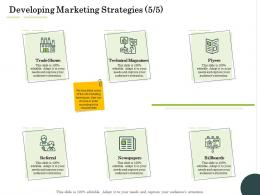 Developing Marketing Strategies Technical Administration Management Ppt Brochure