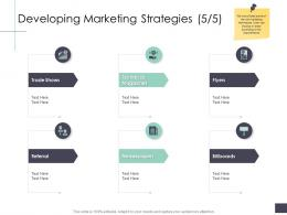 Developing Marketing Strategies Trade Business Analysi Overview Ppt Icons