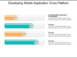Developing Mobile Application Cross Platform Ppt Powerpoint Presentation Information Cpb