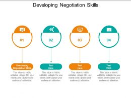 Developing Negotiation Skills Ppt Powerpoint Presentation Styles Clipart Cpb