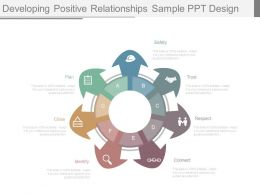 Developing Positive Relationships Sample Ppt Design