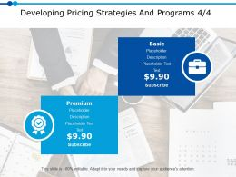 Developing Pricing Strategies And Programs 4 4 Ppt Powerpoint Presentation Gallery Inspiration