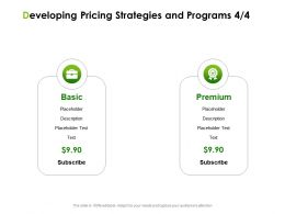 Developing Pricing Strategies And Programs Basic Ppt Powerpoint Presentation Layouts Summary