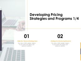 Developing Pricing Strategies And Programs Enter Ppt Powerpoint Outline