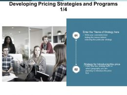 Developing Pricing Strategies And Programs Introducing Ppt Powerpoint Presentation Infographics