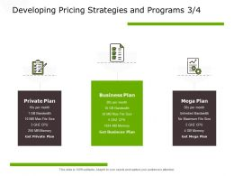 Developing Pricing Strategies And Programs Mega Plan Ppt Powerpoint Presentation Outline Mockup