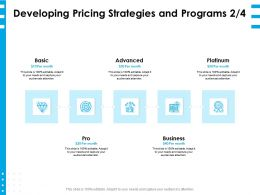 Developing Pricing Strategies And Programs Month Ppt Powerpoint Presentation Graphics