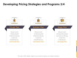 Developing Pricing Strategies And Programs Plan Ppt Powerpoint Pictures