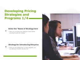 Developing Pricing Strategies And Programs Planning Technology Ppt Powerpoint Presentation Layouts