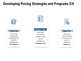 Developing Pricing Strategies And Programs Private Ppt Powerpoint Presentation File Objects