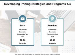 Developing Pricing Strategies And Programs Strategy Ppt Powerpoint Presentation Professional