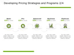 Developing Pricing Strategies And Programs Technology Platinum Ppt Powerpoint Presentation Summary