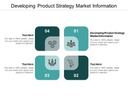 Developing Product Strategy Market Information Ppt Powerpoint Presentation Gallery Objects Cpb
